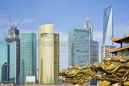 buildings in a city lujiazui the