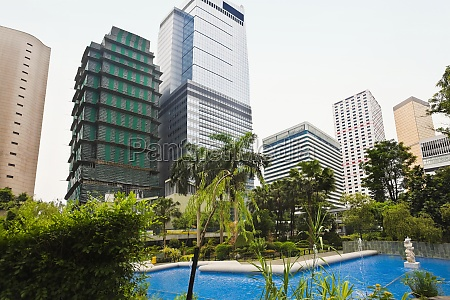 low angle view of skyscrapers near