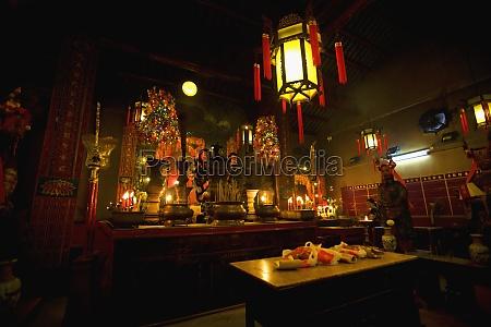 interiors of a temple man mo