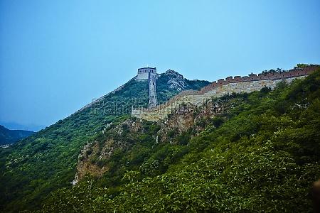 wall passing through a mountain range