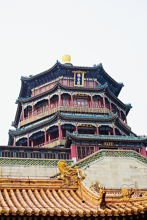 low angle view of a pagoda