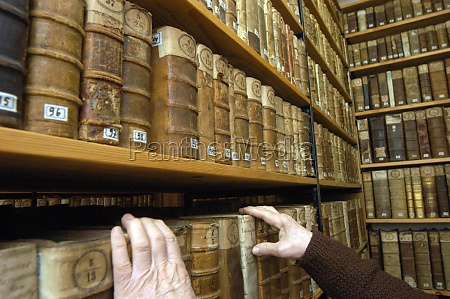 a monastic library in a franciscan