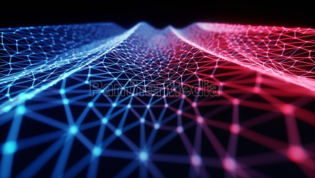 abstract background 3d hologram network connection