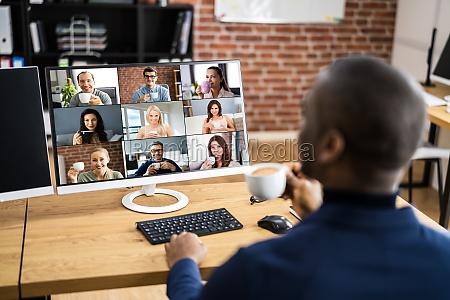 online video conference work webinar