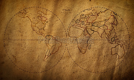old map of the world from