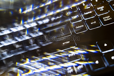 close up of blurred computer keyboard