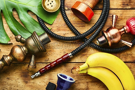 hookah with popular banana flavor