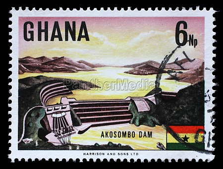 stamp printed in ghana shows volta
