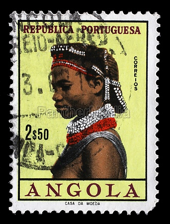 stamp printed in the angola shows