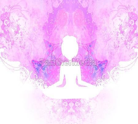 yoga and spirituality abstract ornamental card