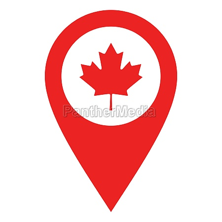 maple leaf and location pin