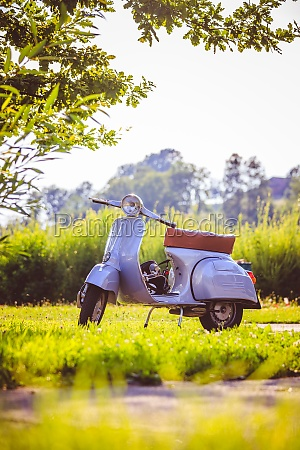 summer time youth culture blue scooter