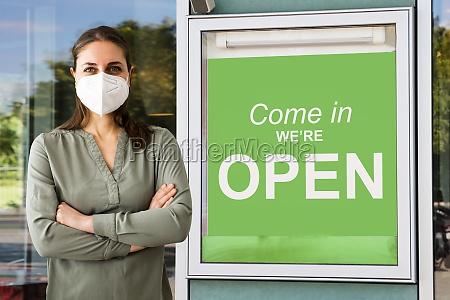 shop store door business owner
