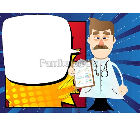doctor shows finance report