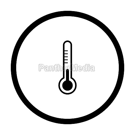 thermometer and circle