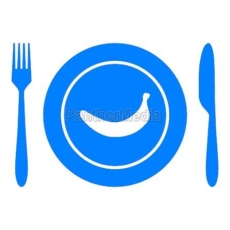 banana and cutlery