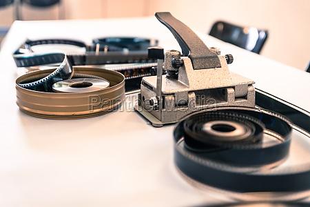 cinema film reel or filmstrip on