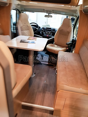 vehicle interior view of a motorhome