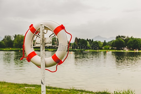 safety buoy or lifesaver at a