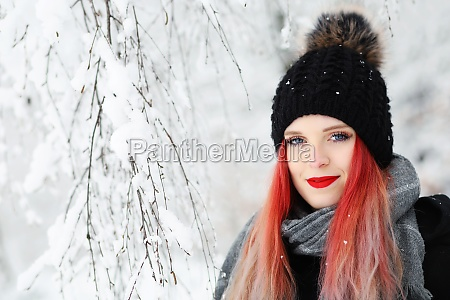 portrait of smiling red hair girl