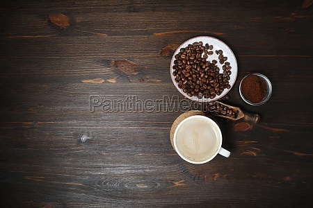 coffee cup coffee beans