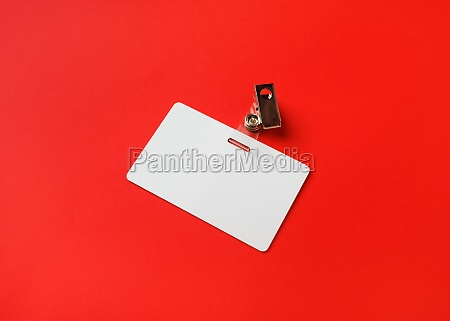 blank plastic badge