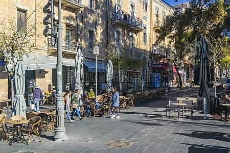 jerusalem urban scene israel