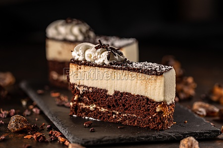 slice of delicious mousse cake