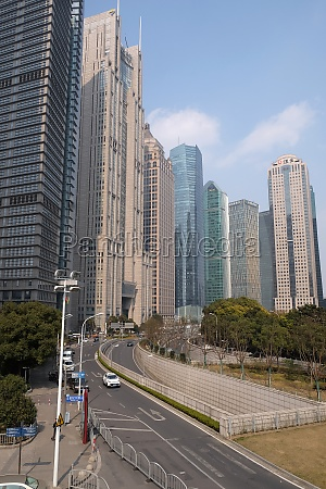 lujiazui financial district skyscrapers in shanghai