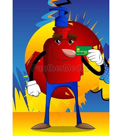 bottle, of, hand, sanitizer, holding, credit - 29622969