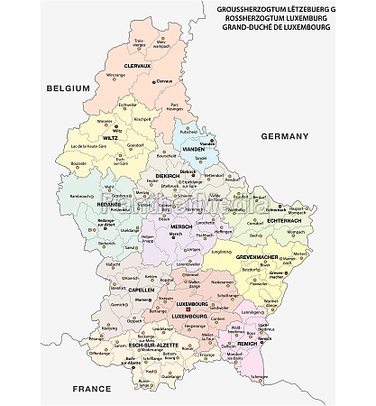 administrative and political vector map grand
