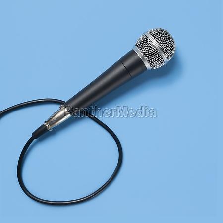 studio shot of microphone