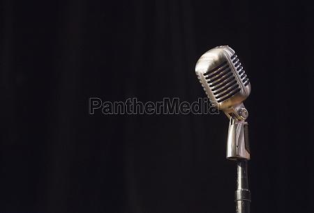 vintage stage microphone