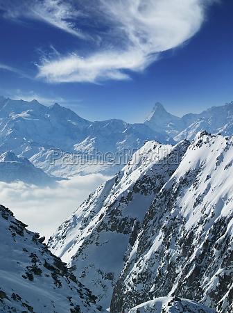 switzerland canton wallis brig snow covered