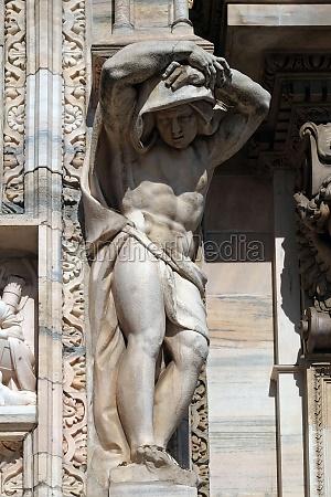 atlantes supporting the main facade of