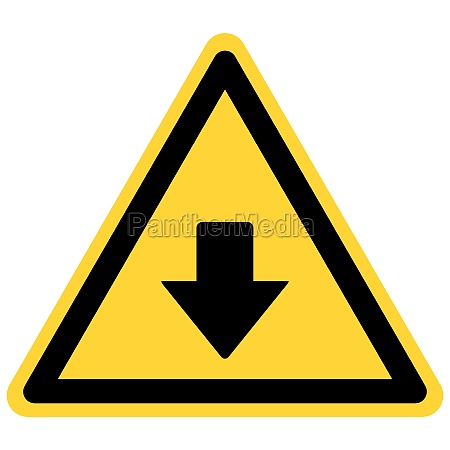 down arrow and danger sign