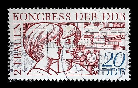 stamp printed in gdr east germany