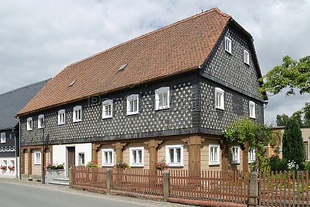 half timbered house in the upper