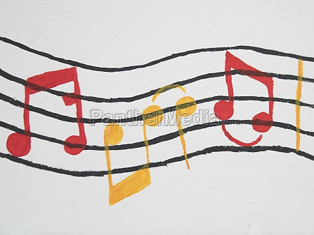 music notes and notation symbol
