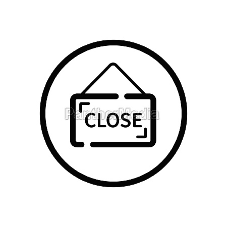 close notice label with text commerce