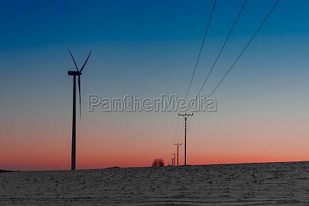 wind power plant in the field