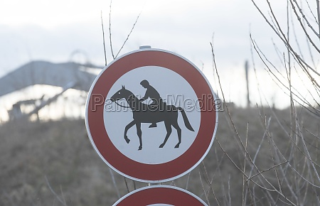 horse riding ban road sign