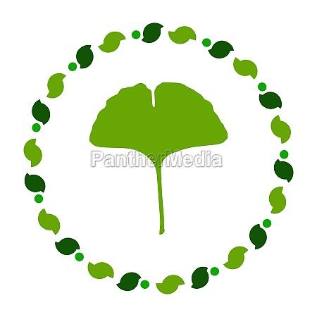 ginkgo leaf and wreath