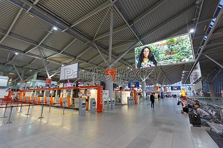 warsaw warszawa airport terminal building in