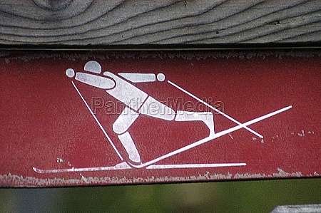 a cross country ski sign