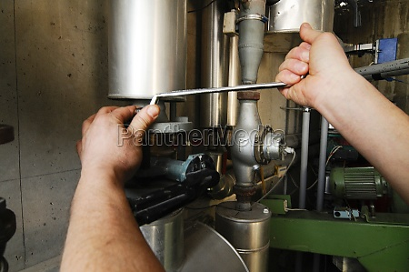 repair of a heating system