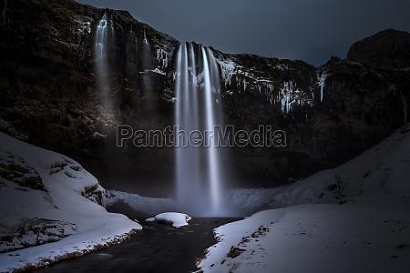 beautiful seljalandsfoss waterfall