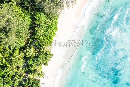 seychelles aerial photo takamaka beach mahe