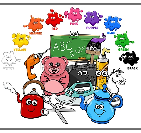 basic colors for children with object