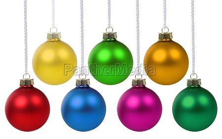 christmas balls baubles decoration hanging isolated